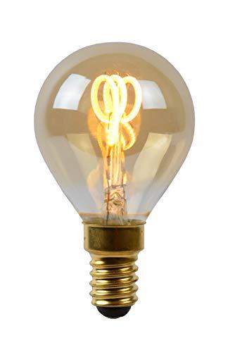 Lucide LED Bulb - Glühfadenlampe - Ø 4,5 cm - LED Dim. - E14 - 1x3W 2200K - Amber