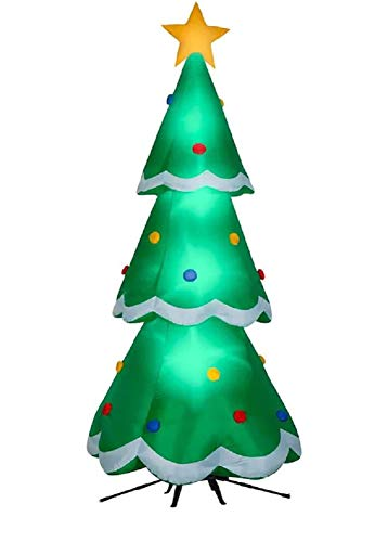Gemmy 10.5FT Inflatable Christmas Tree with Rotating Base Indoor/Outdoor Holiday Decoration