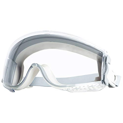 Uvex Stealth Safety Goggles with Clear HydroShield Anti-Fog Lens, White Body & Neoprene Headband (S3960HS)