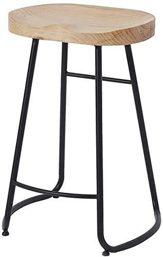 XHCP American Loft Style Landhaus Barhocker Barhocker Cafe Tisch und Stuhl Massivholz Schmiedeeisen Front Hochstuhl A + (Größe: 75cm)