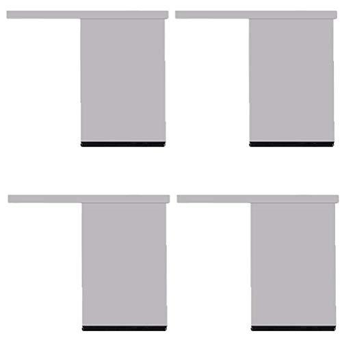 MFLASMF 4 Patas de Soporte de Metal para Muebles, Patas de sofá de aleación de Aluminio, Patas de gabinete, Pata de Cama de Repuesto para Bricolaje, para sofá, mesas de café, Armario, vitr