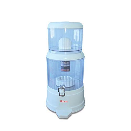 Rico Unbreakable Water Purifier | Non Electric | 1 Year Free Replacement Warranty | Japanese Purification Mineral Technology | Gravity Based Water Purification| Large Size | 20 LTR | Unbreakable Body