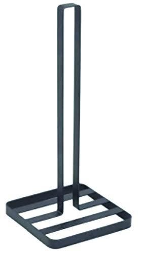 MSV Küchenrollenhalter Design Papierrollenhalter stehend, für die Küche, 14 x 14 x 32,5 cm, schwarz matt