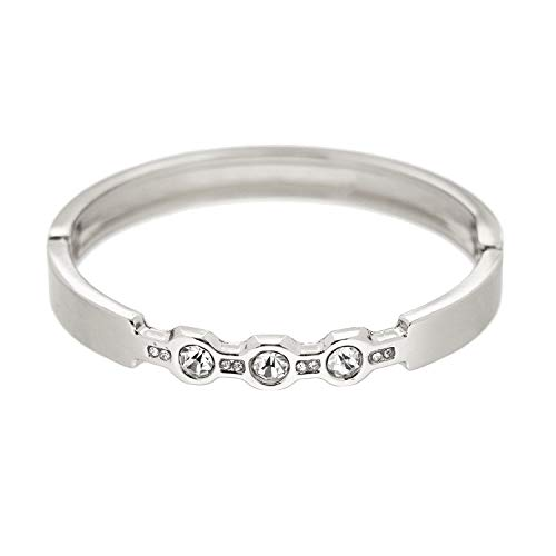 Sweet Deluxe armband Armella, zilver/kristal I armbanden voor dames en meisjes | Girl armbanden | Cadeau-idee voor verjaardag, bruiloft, verloving | Bangle Vrouwen armbanden