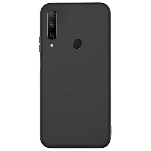 Compatible para Huawei Honor 9X Carcasas(2020)+3D Protectores de Vidrio Templado/Case Caso Silicona TPU Airbag Anti-Choque Bumper Ultra-Delgado Blandas Fundas para Huawei Honor 9X-Negro