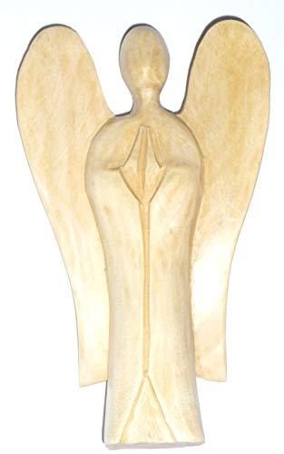 Schutzengel aus Holz Holzfigur Figur Skulptur 10cm