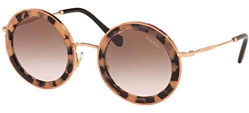 miu miu Occhiali da sole MU 59US CORE COLLECTION 07D0A6 occhiali Donna colore Havana lente marrone taglia 48 mm
