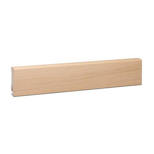 KGM Sockelleiste Eiche unbehandelt Echtholz | Fußleiste 58mm Modern ✓Echtholz Fichte Träger ✓Furnier Holz Oberfläche ✓Parkettleiste | Laminat & Parkett | Holzleisten Eiche 16x58x2500mm