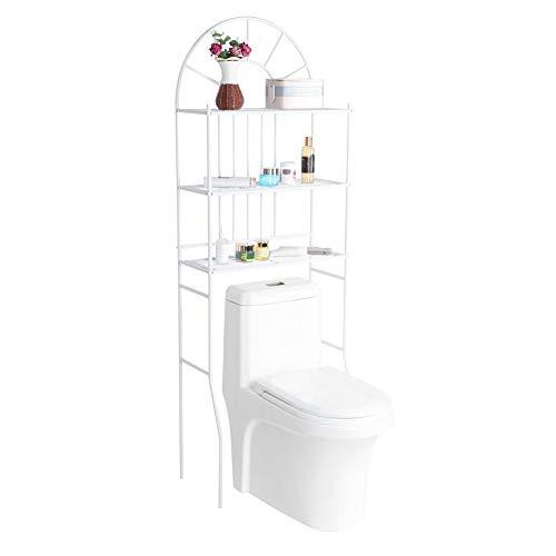 Cocoarm Mensola per Lavatrice con 3 Ripiani mensola per WC in Ferro mensole per Bagno mensola per WC mensola per WC mensola per Bagno Porta Asciugamani, 60,5 x 30,5 x 171 cm