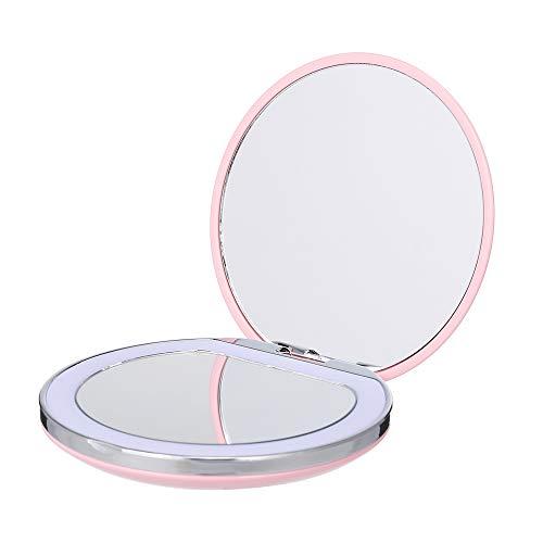 Benkeg Miroir Cosmétique - Mini-Miroir de Maquillage À Led de Poche Portable Avec Lumière Rechargeable Compacte 1X / 3X pour Loupe Maquillage Miroir de Beauté Se Pliant