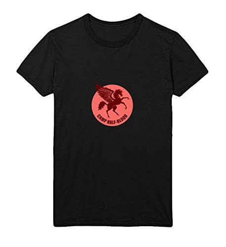 Camp Half Blood Percy Jackson Pegasus Horse Logo_R4933 for Für Männer Herren Man Shirt T-Shirt Tshirt T Shirt Gift for Him Her Lustige Present - XL White Men\'s