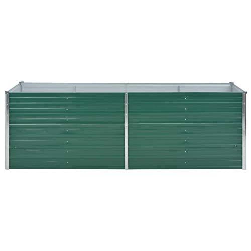 Jardinera exterior metálica, maceta de balcón, acero galvanizado, maceta rectangular es lo...