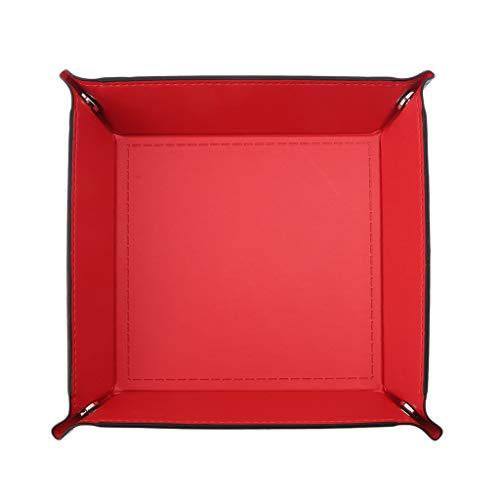 Preisvergleich Produktbild siwetg Faltbare Desktop Aufbewahrungsbox Pu Leder Viereck Fach DND Würfel Schlüssel Münzfach