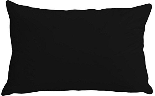 100% Cotton Standard Housewife Pillow Case By Sasa Craze Bedding (Black)