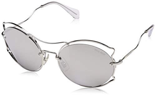 Miu Miu 0MU50SS 1BC2B0 57 Gafas de sol, Plateado (Silver/Light Grey Silver), Mujer