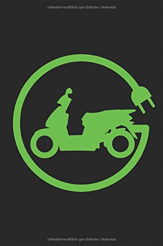 Elektro Motorroller Elektroroller E-Scooter E-Roller Logo Grün Notizbuch: Motorroller fahren Zweitakter Planen Notieren Rechenheft Liniert Journal A5 ... Geschenk für Rollerfahrer Rollerfahrerin
