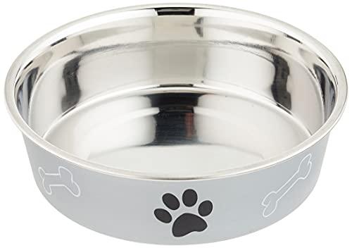 Trixie - Ciotola in acciaio con rivestimento in plastica per cani, Colori Assortiti, 0.75 l, ø17 cm, 1 pezzo