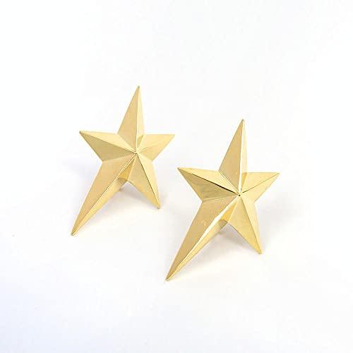 YFZCLYZAXET Pendientes Mujer Pendientes De Metal Pendientes Casuales De Moda Clips para Los Oídos Pendientes Simples-Pares-Oro