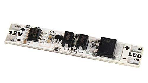 Interruptor / conmutador táctil ON/OFF, de 12V, para perfiles de aluminio con tira LED de 60W