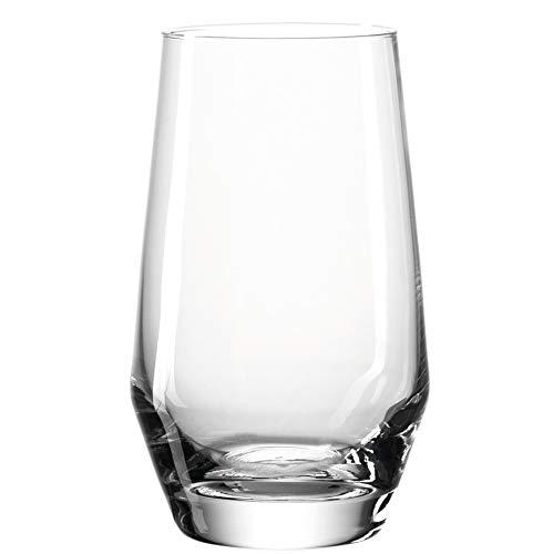 Leonardo Puccini Trink-Gläser, 6er Set, spülmaschinenfeste Wasser-Gläser, Trink-Becher aus Glas, Saft-Gläser im modernen Stil, 365 ml, 069558