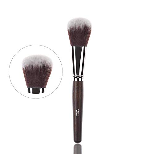 JFFFFWI Pinceau de Maquillage Spot lot Acajou Couleur 3 à tête Plate Brosse en Fibre synthétique Brosse en Poudre Brosse cosmétique