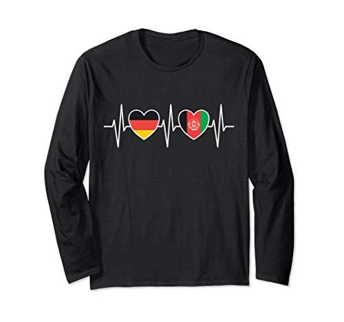 Deutschland und Afghanistan Afghanisch Afghan Fahne Flaggen Langarmshirt