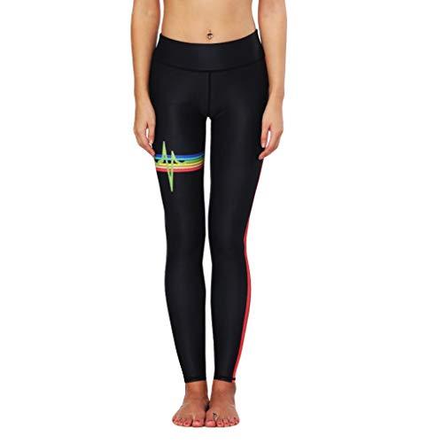 QUINTRA Yoga Hosen Frauen Sport Fitness Laufen Yogahosen Herzfrequenz Radio Streifen Gedruckt Hüfthose