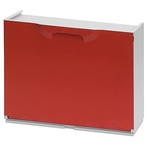 Art Plast U50/1R Scarpiera modulare in plastica, rosso/bianco