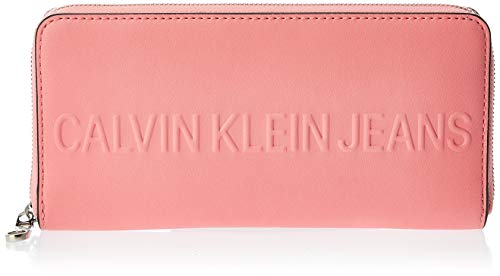 Calvin Klein Damen Box Large Ziparound Clutch, Pink (Pop Pink), 1x1x1 cm