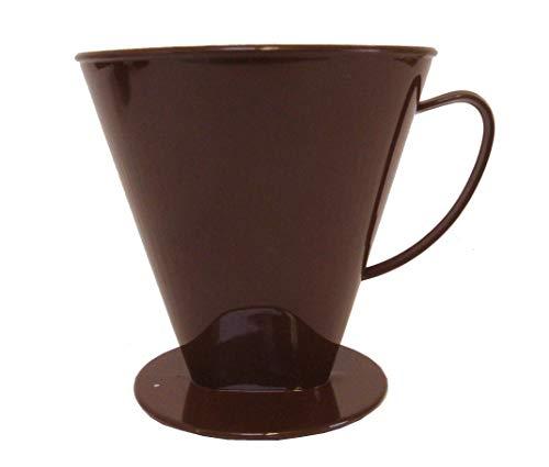 Sonja-Plastic Kannenaufsatz 8-12 Tassen, braun, Kaffeefilter, Made in Germany