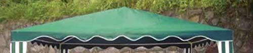 DISRAELI Copertura per Gazebo Verde 3x3m Coperture per Esterni