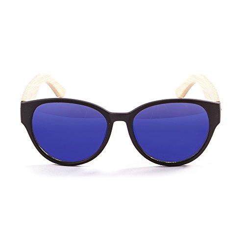 Ocean Sunglasses - cool - lunettes de soleil en Bambou - Monture : Bambou Noire - Verres : Revo Bleu (51001.1)