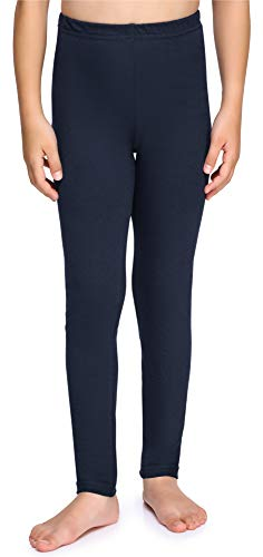 Merry Style Mädchen Lange Leggings aus Baumwolle MS10-225 (Marineblau, 134 cm)