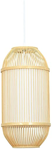 Lámpara Colgante De Bambú De La Selva Tropical, Estilo Japonés, Arte Hecho A Mano, Lámpara Colgante, Lámpara De Mimbre De Ratán DIY, Linterna De Suspensión Tradicional Del Sudeste Asiático Para Café,