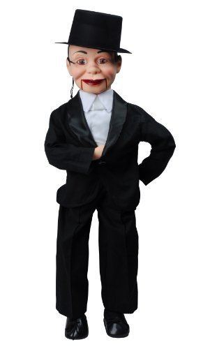 Charlie McCarthy Dummy Ventriloquist Doll, Famous Celebrity Radio Personality Created by Edgar Bergen. Comes with E-Book 'How to Be a Ventriloquist'