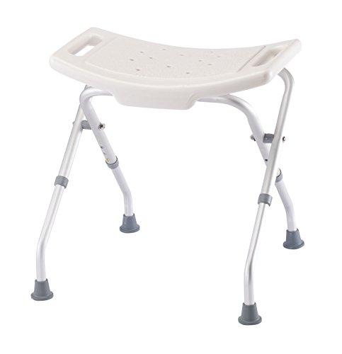 EasyComforts Extra-Large Folding Bath Bench, White