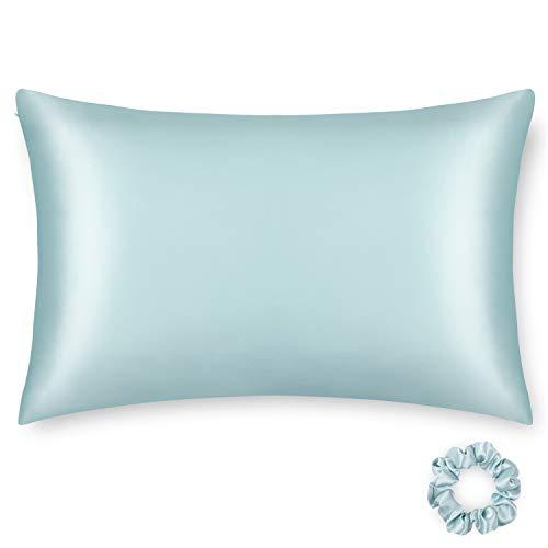 ALASKA BEAR - Funda de almohada de seda hipoalergénica para pieles propensas al acné, 100% seda de morera real, funda de almohada de enfriamiento tamaño King con cremallera (1...