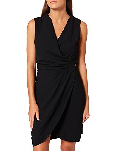Morgan Robe Drapee SM Unie 212-renala.f Vestido, Negro, 38 para Mujer