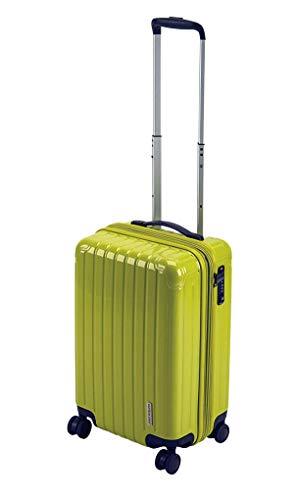 キャプテンスタッグ(CAPTAIN STAG) スーツケース キャリーケース キャリーバッグ 超軽量 TSAロック ダブルホイール 360度回転 静音 ダブルファスナータイプ 機内持込 Sサイズ レモン パルティール UV-69