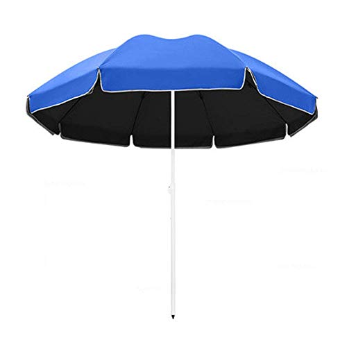 FFSM 2.2m / 2.4m / 2.6m Ronda Paraguas al Aire Libre, Verde/Azul del jardín Paraguas Paraguas Mercado /, 95% a Prueba de Agua / UPF50 + plm46 (Color : Blue, Size : 2.4m)