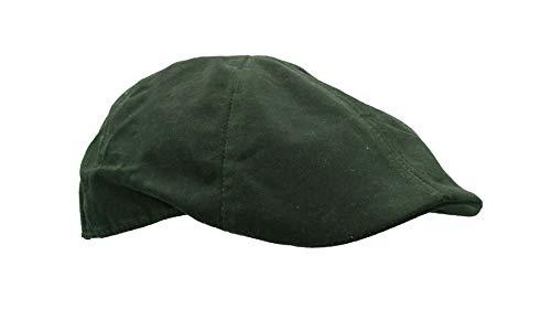 Walker & Hawkes - Unisex Schiebermütze - gewachst - Country-Stil - Olivgrün - M (58 cm)