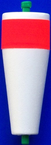 """Comal Tackle 4"""" Popping Float Red/Wht Non-Slotted-weighted pk12 #25W4"""