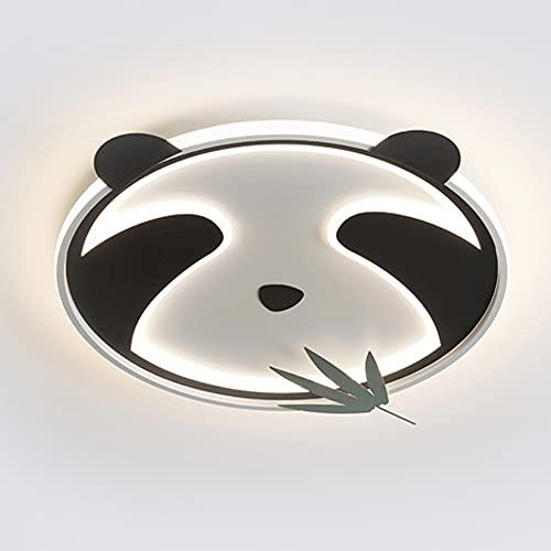 Lámpara Techo Para Habitación De Niños, Lámpara De Dormitorio, Accesorio De Iluminación Moderno Simple, Lámpara De Techo De Panda Creativa De Dibujos Animados Nórdicos Masculinos (55cm)