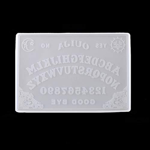 MINGSTORE 2Pcs Ouija- Brett Planchette Harzformen Gothic Ouija- Brettspiel Schlüsselbund Anhänger Epoxy Silikonformen Schmuckherstellung