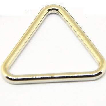 LYJ Silber Gold Dreiecke Schnalle Handtasche Gürtel Einzelring Ledertasche Zubehör