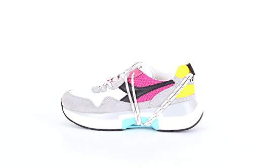Diadora 174817 Sneakers Donna Grigio Fucsia e Giallo 39
