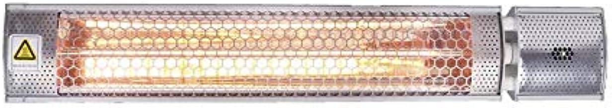 M Confort Light Calefactor Halógeno Infrarrojo de Onda Corta, 1000-2000 Watts, Ip65, Interior/Exterior, Mando a Distancia, 66 x 11 x 7 cm