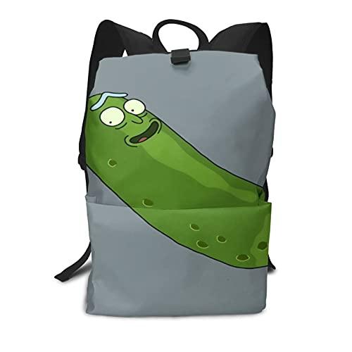 Pickle-Rick - Mochila escolar unisex para niño y niña