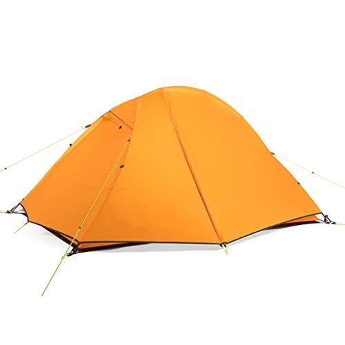 LMJ Tienda de campaña Ultraligera Camping 2 Persona con 2 Capa Puertas Fácil de configurar Doble Tienda Impermeable de 3 Estaciones de Senderismo Ciclismo (Color : Orange)