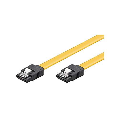 Goobay 95019 Cavo dati S-ATA per HDD, SDD, 6 Gbit, spina SATA tipo L a spina SATA tipo L a spina SATA tipo L, lunghezza 30cm